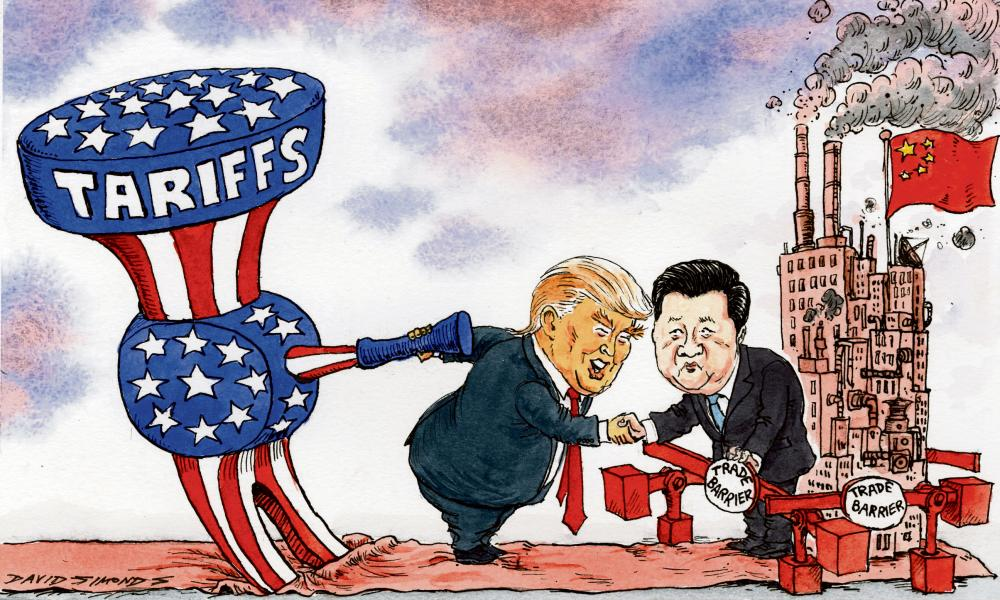 Image result for lighthizer china cartoon